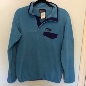 Patagonia classic fleece blue and navy
